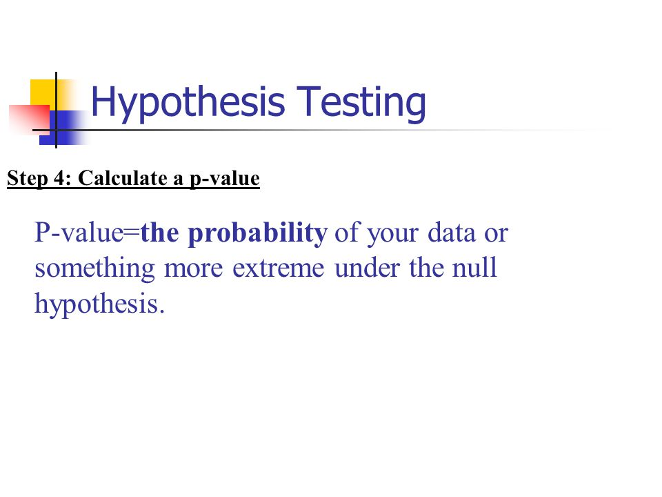 how to find p value in hypothesis testing