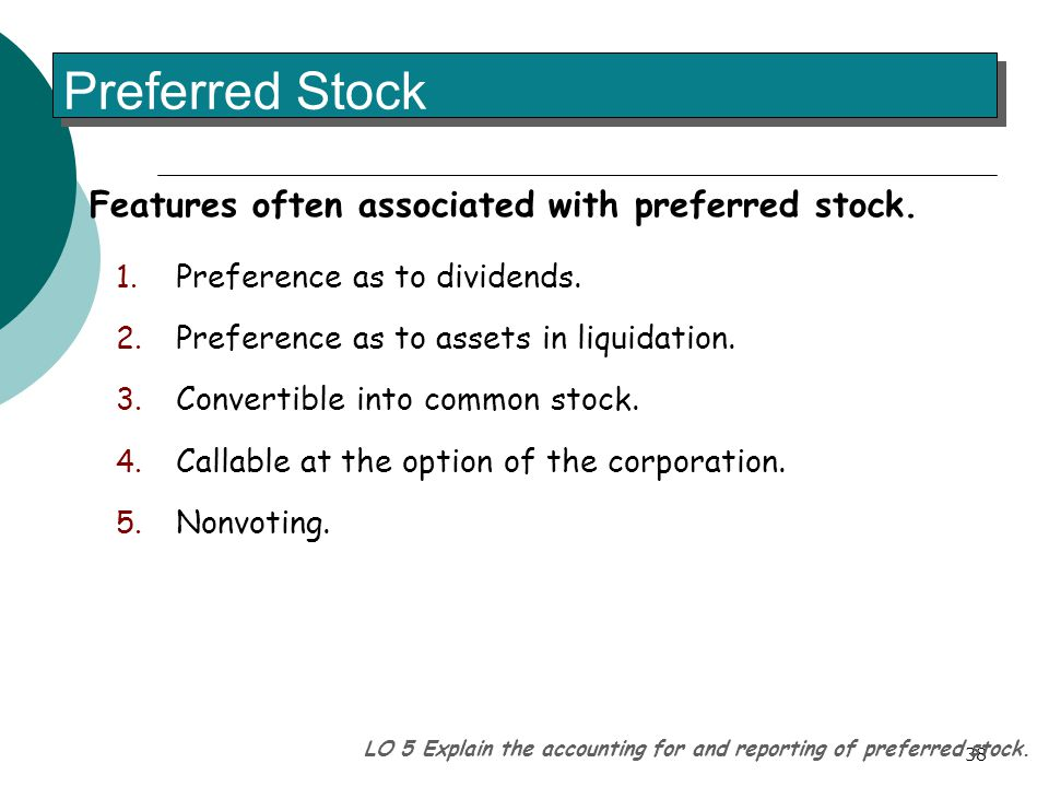 Stock options features