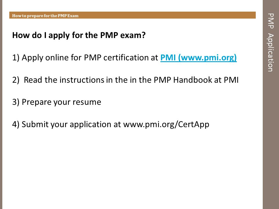 how to prepare for the pmp exam ppt video online download