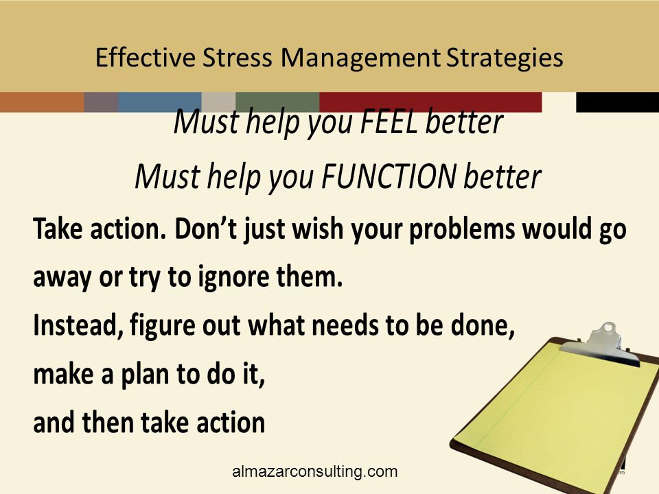 stress management action plan How to develop a plan to manage stress stress is often a common feeling in many people's lives  help when it comes to prioritizing and creating your action plan .