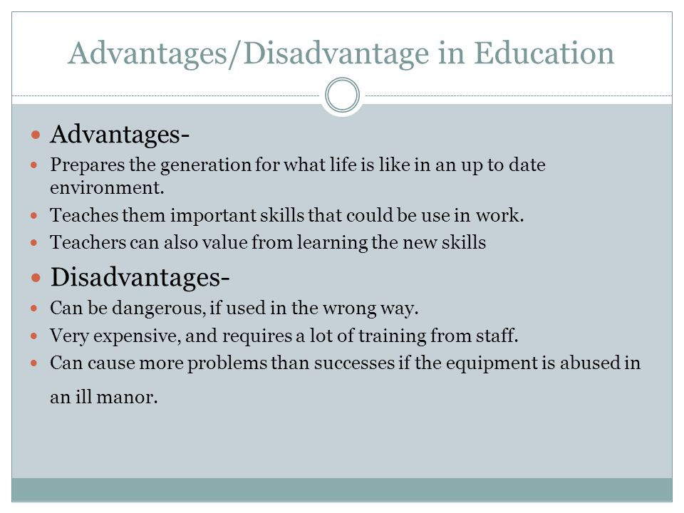 Adavantages and disadvantages of techonology - Research