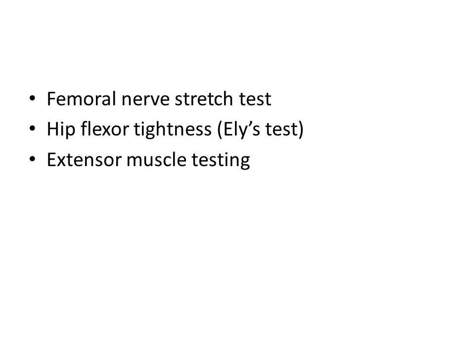 femoral nerve stretches – lickclick, Muscles
