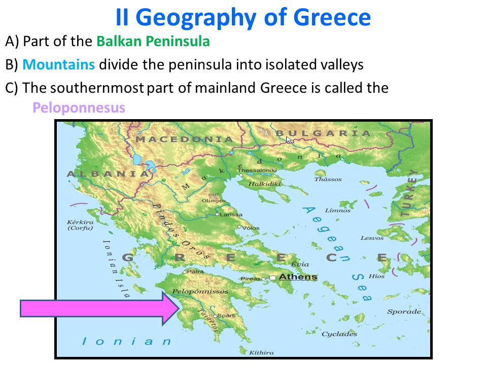 man land relationship geography of greece