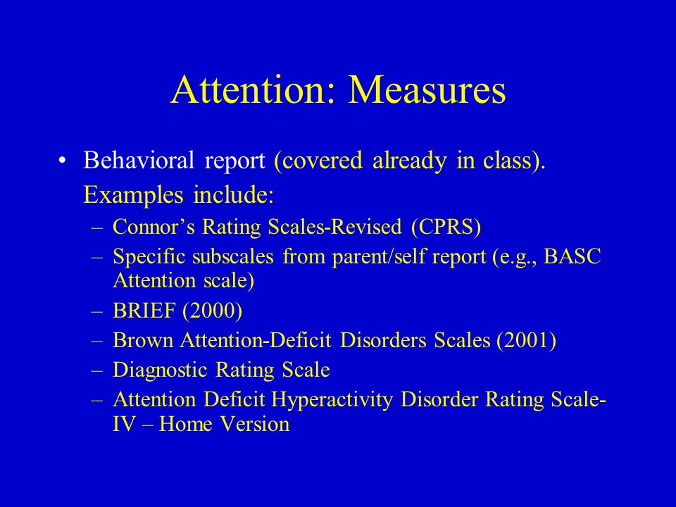 a report on selective attention Attention test: a short introduction usually an attention test requires to detect something in a lot of stimuli for example, searching 4 dots in lines of groups of 3 or 5 dots, or detecting a 4 between numbers (0-9) sequentially displayed on a computer screen.