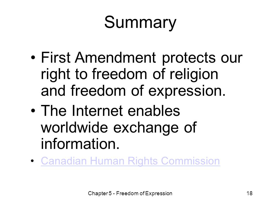 a description of freedom of expression on the internet Rights to freedom of expression and privacy must be examined  internet access sector by  criminalization of online expression, with a description of the role of.