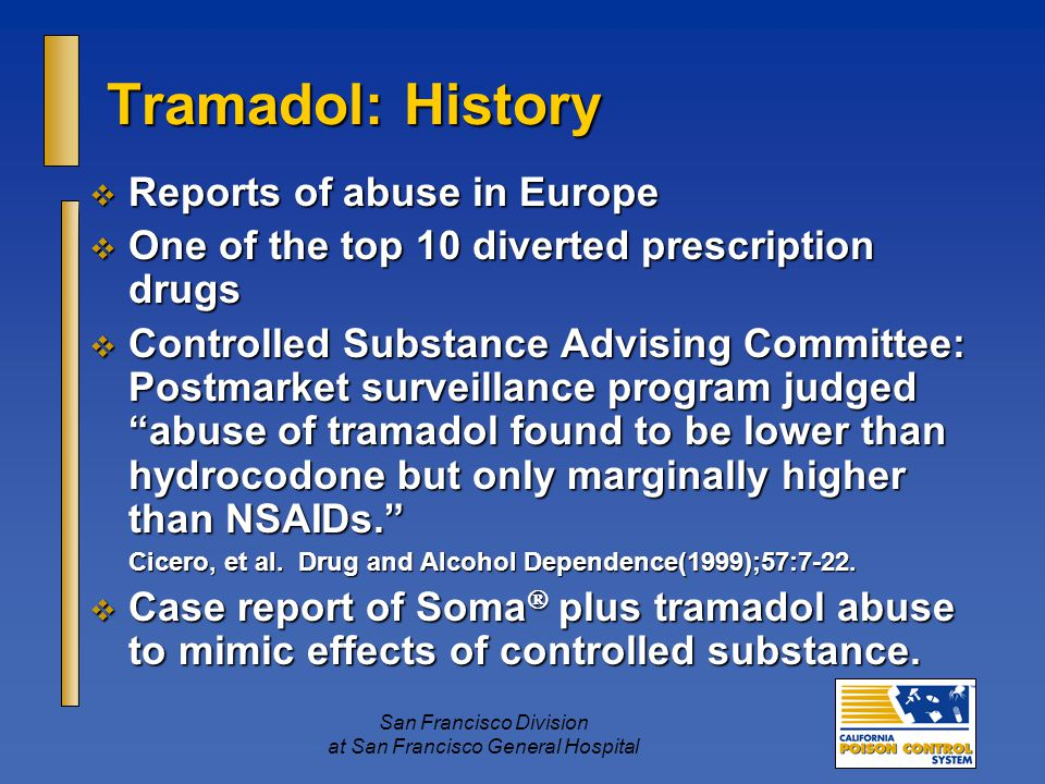 tramadol controlled substance act history and origins