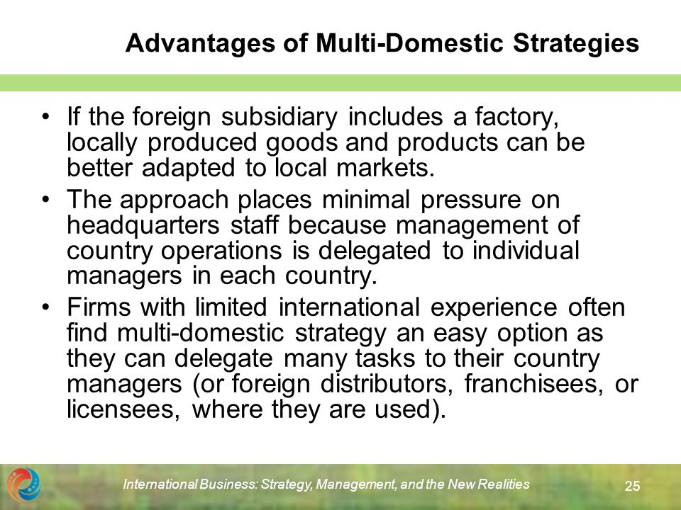 Global Strategy Vs. Multicountry Strategy
