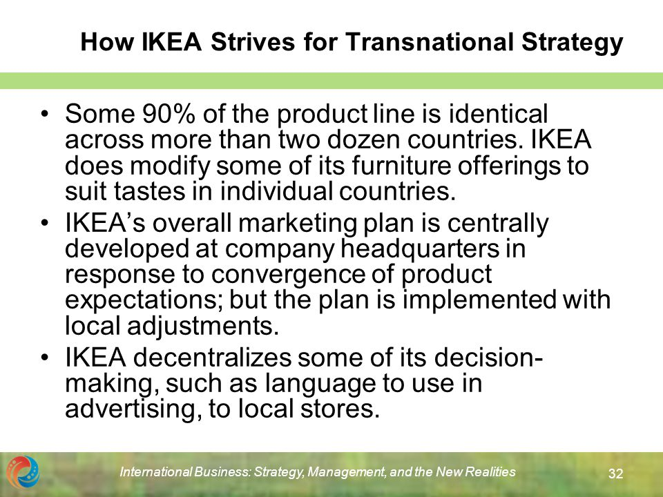 ikea's globalization strategies and its foray Marketing strategies on chinese business by lohyuenching in types  business/ law, management, and globalization.