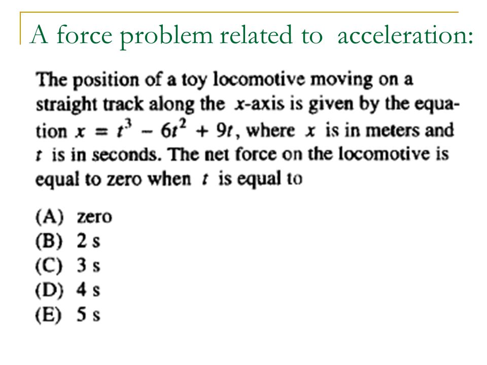 how to find acceleration with force and distance