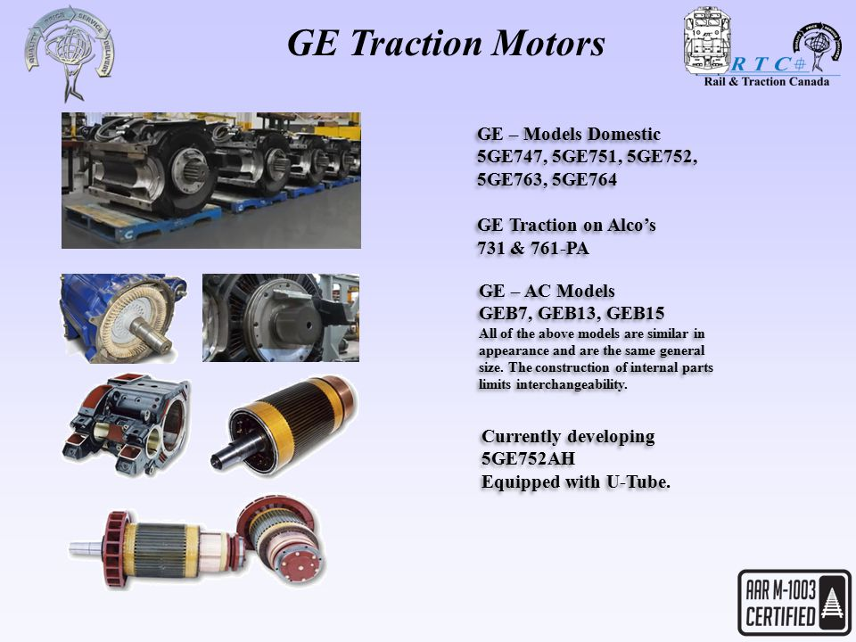 Ge traction motors make everything you motorized for Diffee motor cars south