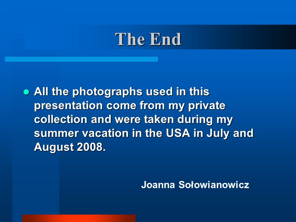 The End Joanna Sołowianowicz