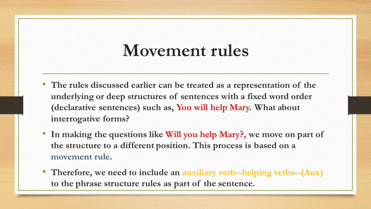 Movement rules