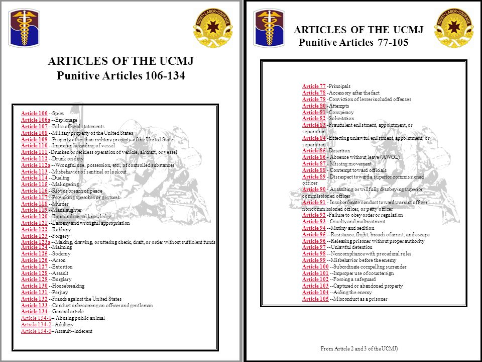 article 86 and article 92 ucmj The uniform code of military justice article 86, ucmj absence without leave read more article 92, ucmj.