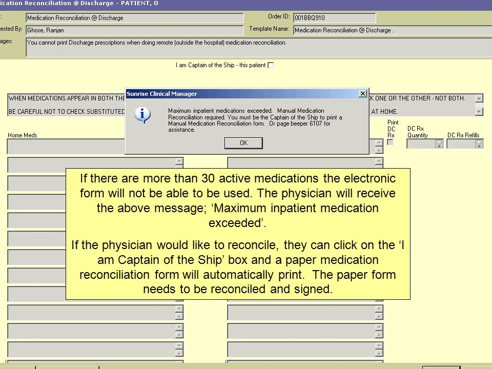 Electronic Medication Reconciliation Nursing Discharge Process