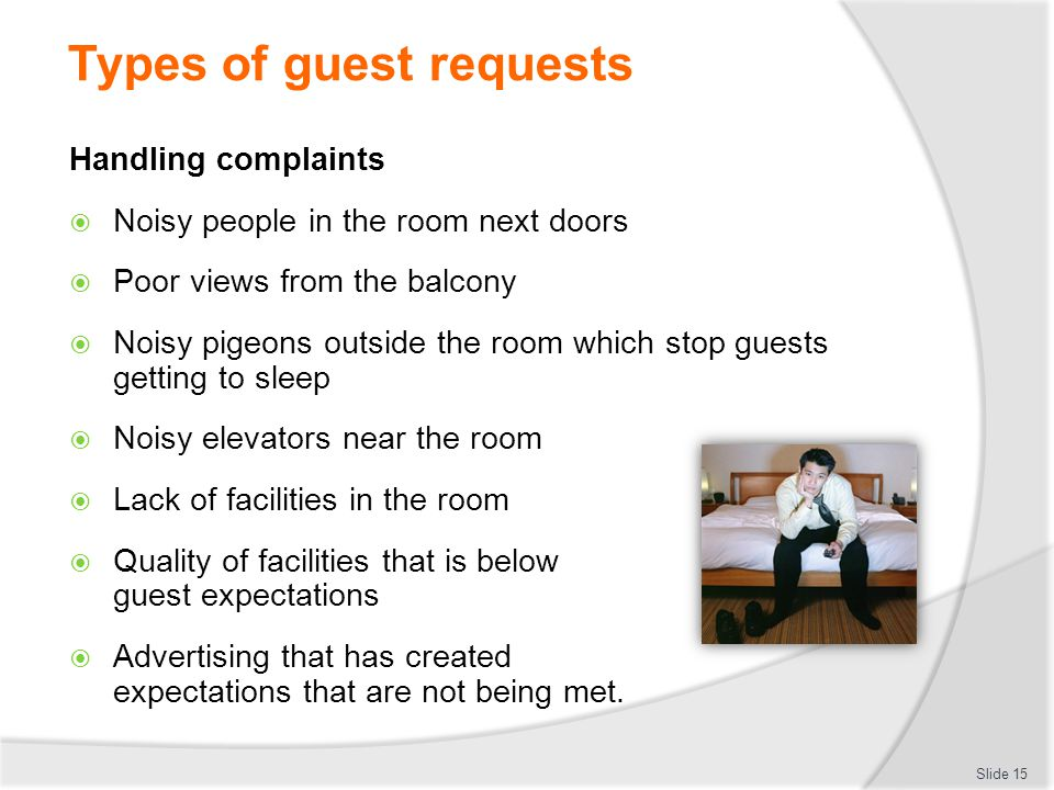 Types of guest requests