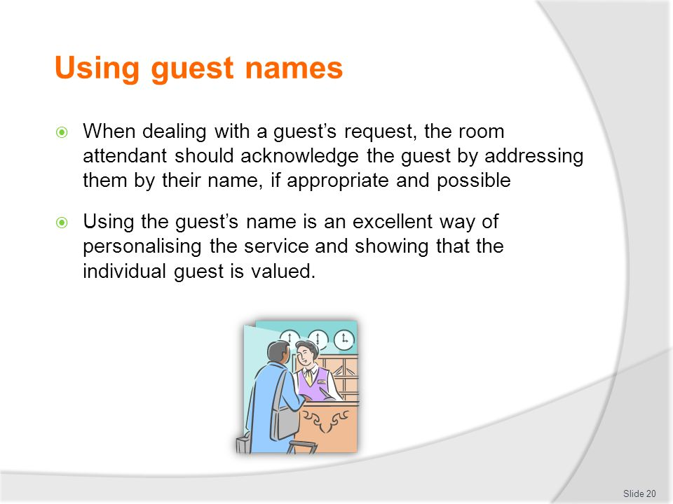 Using guest names