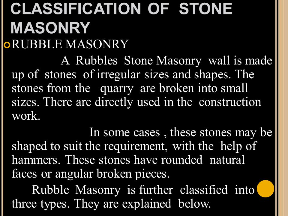 types of stone masonry pdf