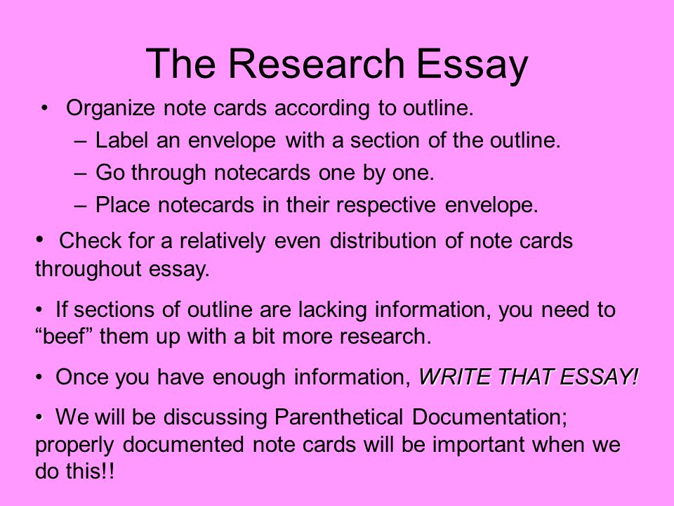 writing research essay The Writing Phase of a Research Paper