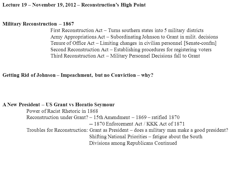 south won reconstruction essay I wrote that it was true on my us history essay civil war, but the south won reconstruction why is this true the north won the civil war, but the.