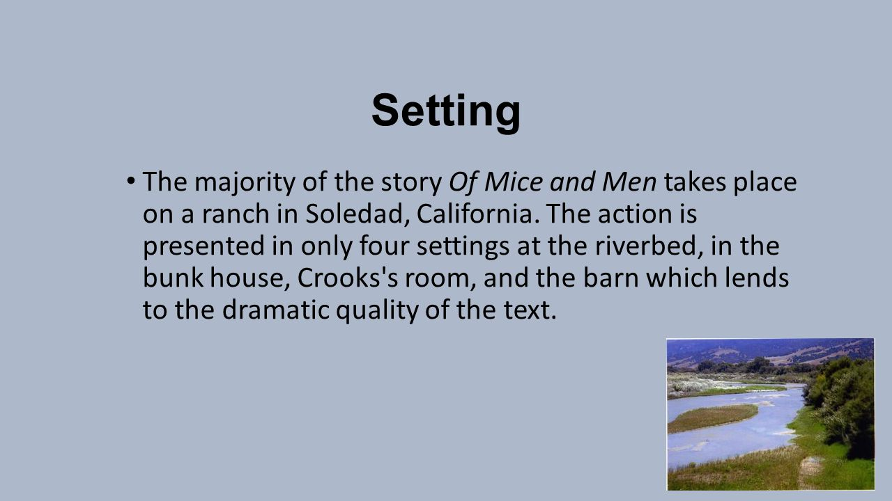 of mice and men setting