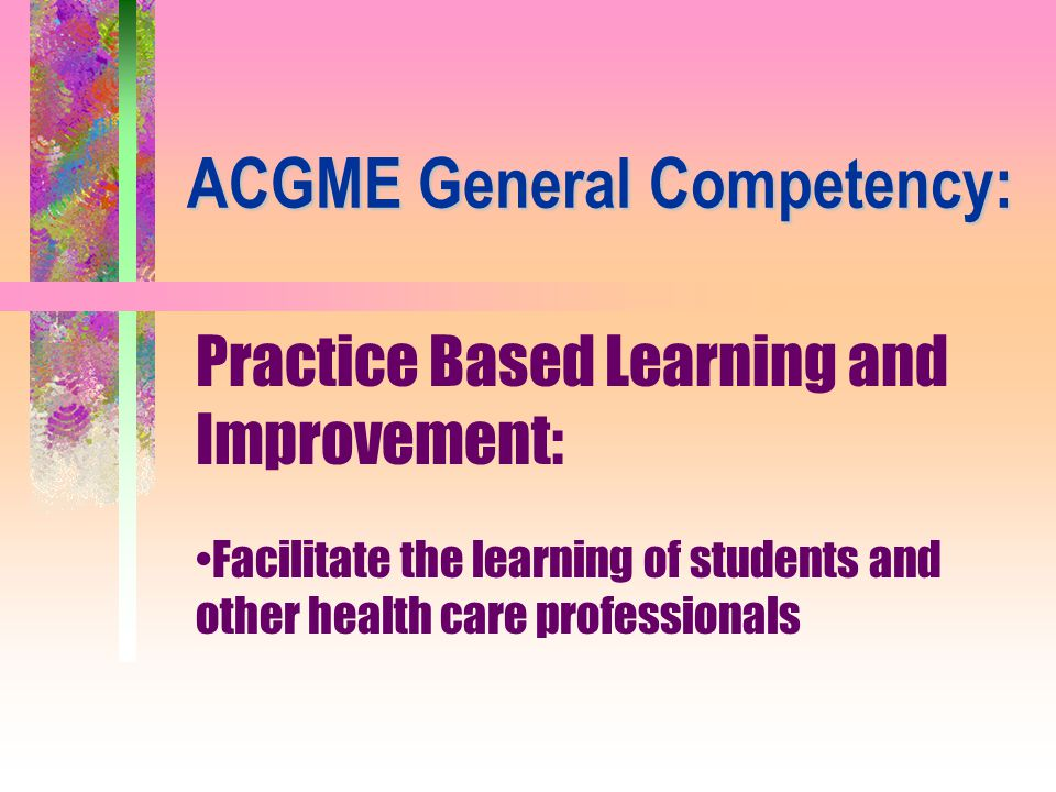 ACGME General Competency: