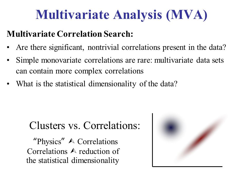 multivariate data analysis Multivariate analysis (mva) is based on the statistical principle of multivariate statistics, which involves observation and analysis of more than.