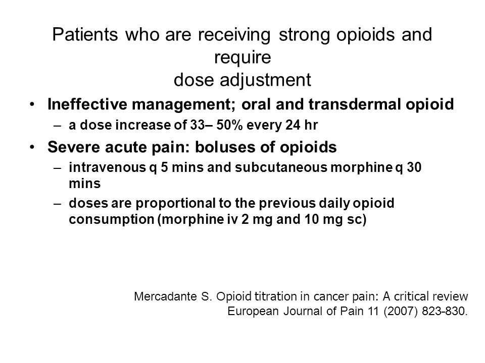 Clinical Use Of Opioids In Cancer Patients Ppt Video