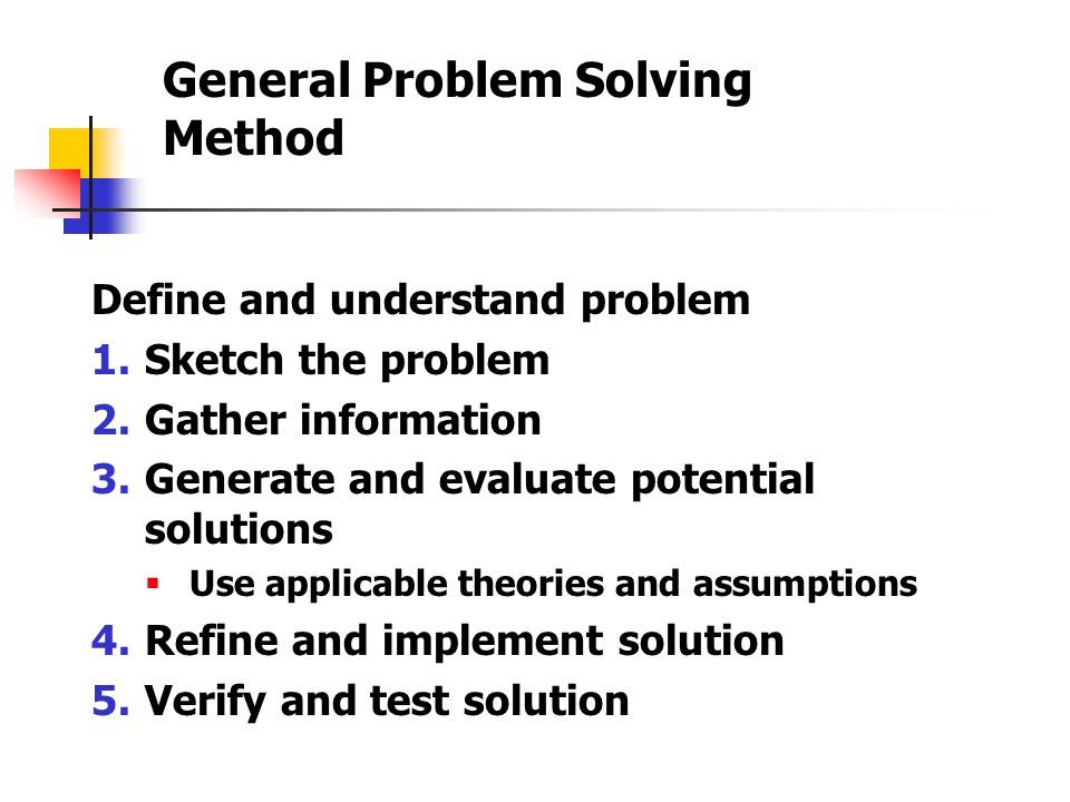 steps of problem solving method