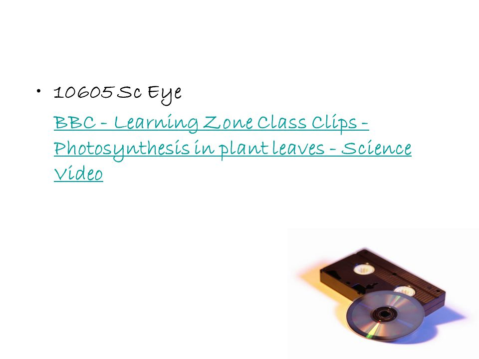 10605 Sc Eye BBC - Learning Zone Class Clips - Photosynthesis in plant leaves - Science Video