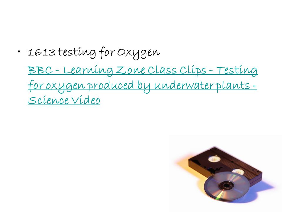 1613 testing for Oxygen BBC - Learning Zone Class Clips - Testing for oxygen produced by underwater plants - Science Video.
