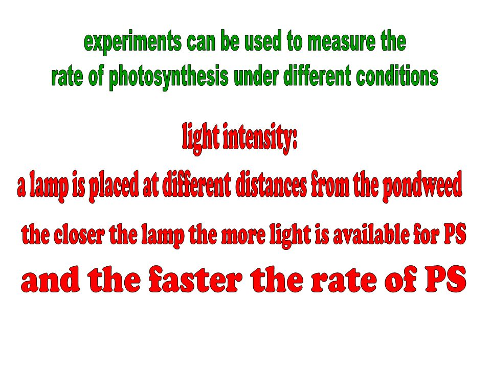 experiments can be used to measure the
