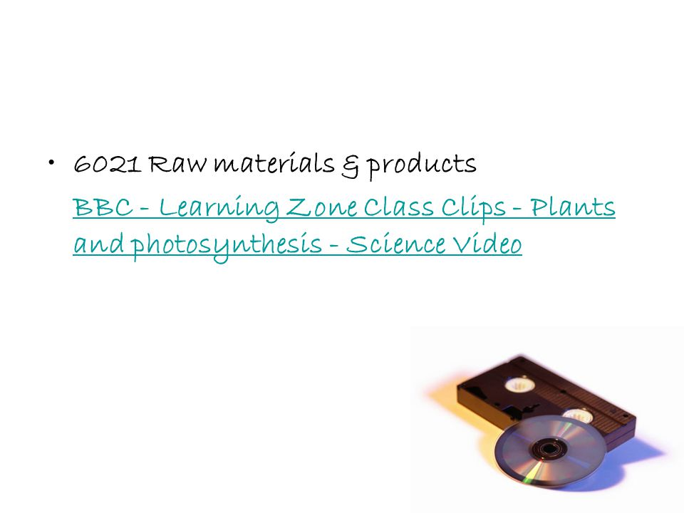 6021 Raw materials & products