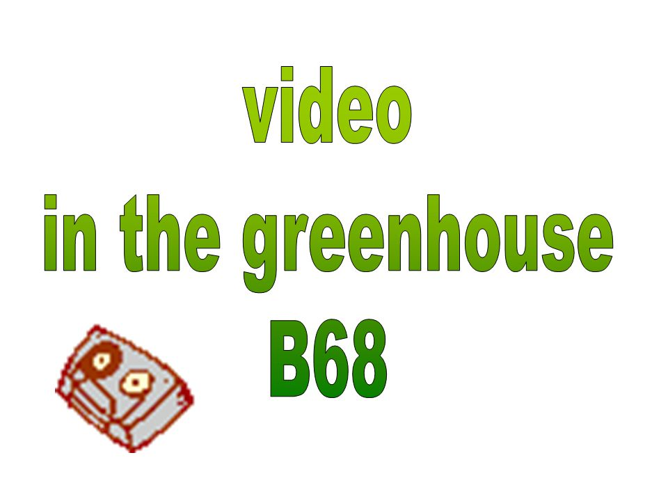 video in the greenhouse B68