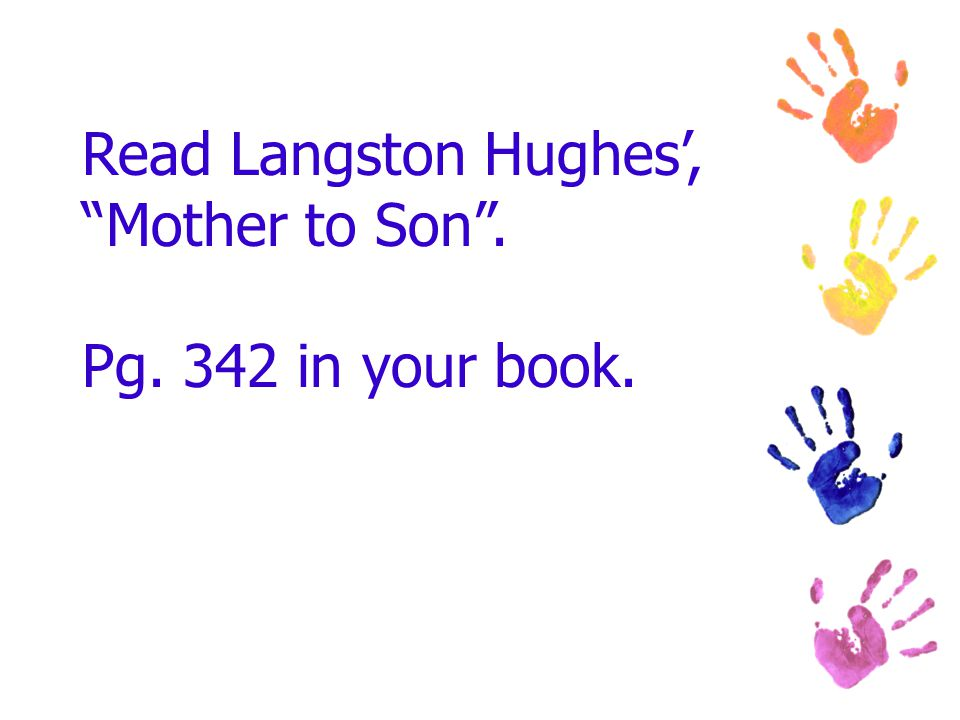 mother to son by langston hughes essay