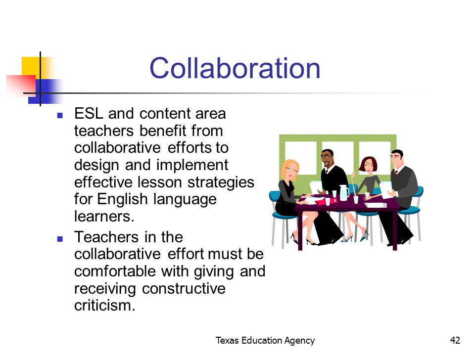 Collaborative Teaching For Esl : Presented by the texas education agency ppt download