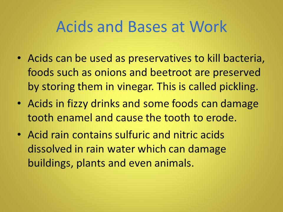 Acids and Bases at Work