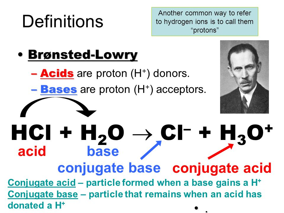 Another common way to refer to hydrogen ions is to call them protons