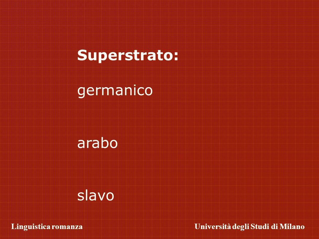 Superstrato: germanico arabo slavo