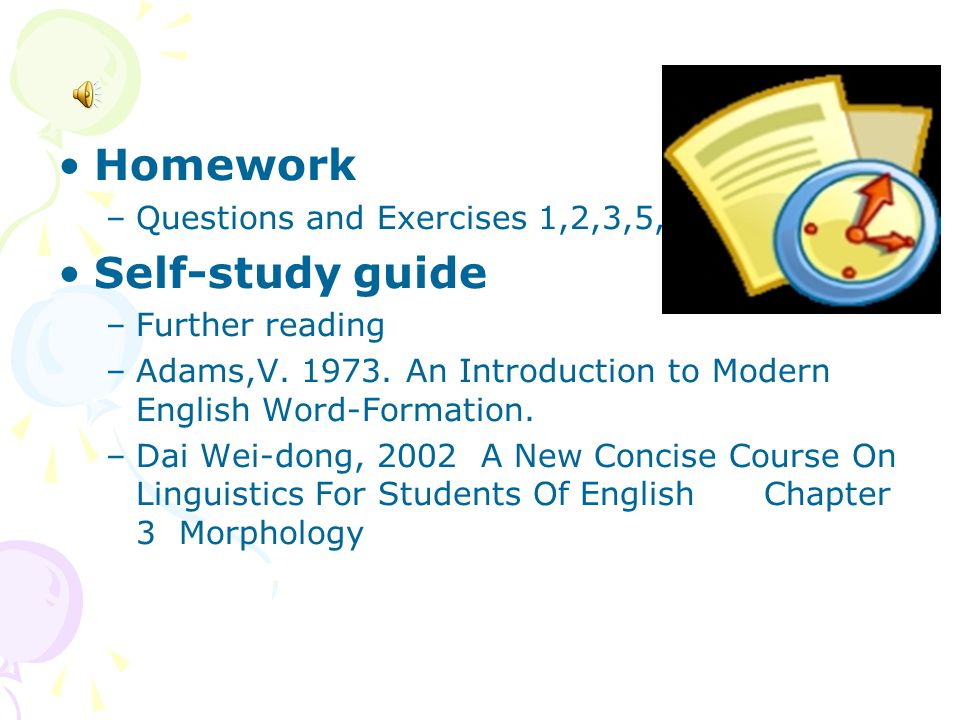 Homework Self-study guide Questions and Exercises 1,2,3,5,13