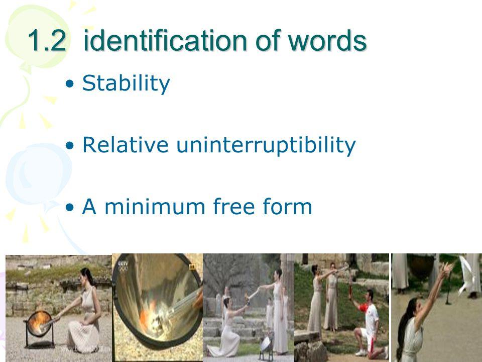 1.2 identification of words