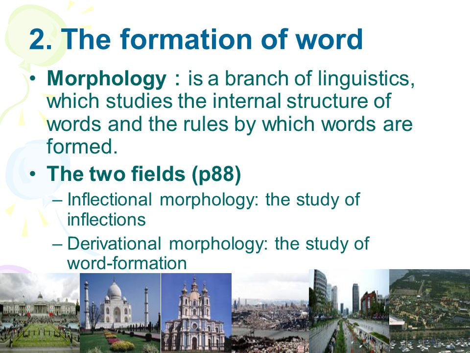 2. The formation of word