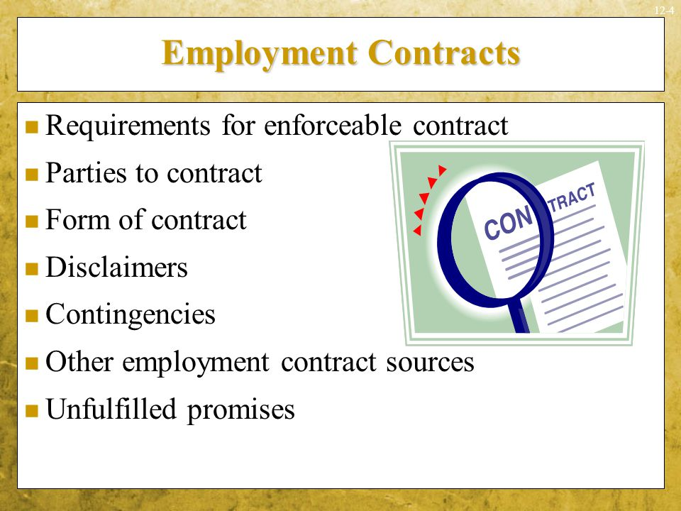 Employment Contracts Requirements for enforceable contract