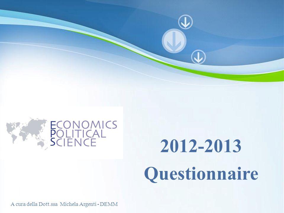 2012-2013 Questionnaire Powerpoint Templates