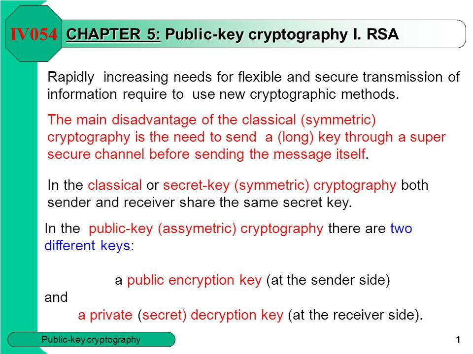 CHAPTER 5: Public-key cryptography I. RSA