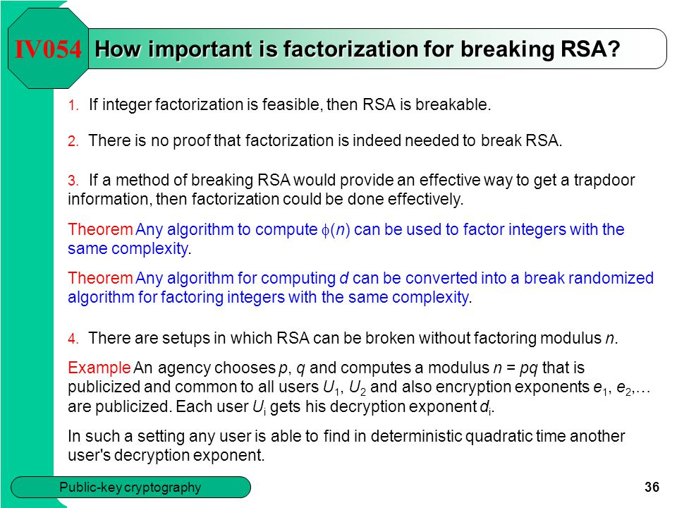 How important is factorization for breaking RSA