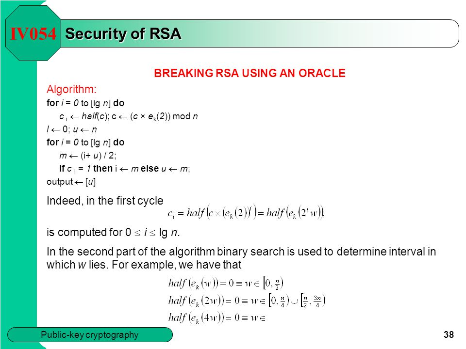 BREAKING RSA USING AN ORACLE