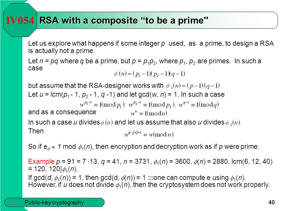 RSA with a composite to be a prime