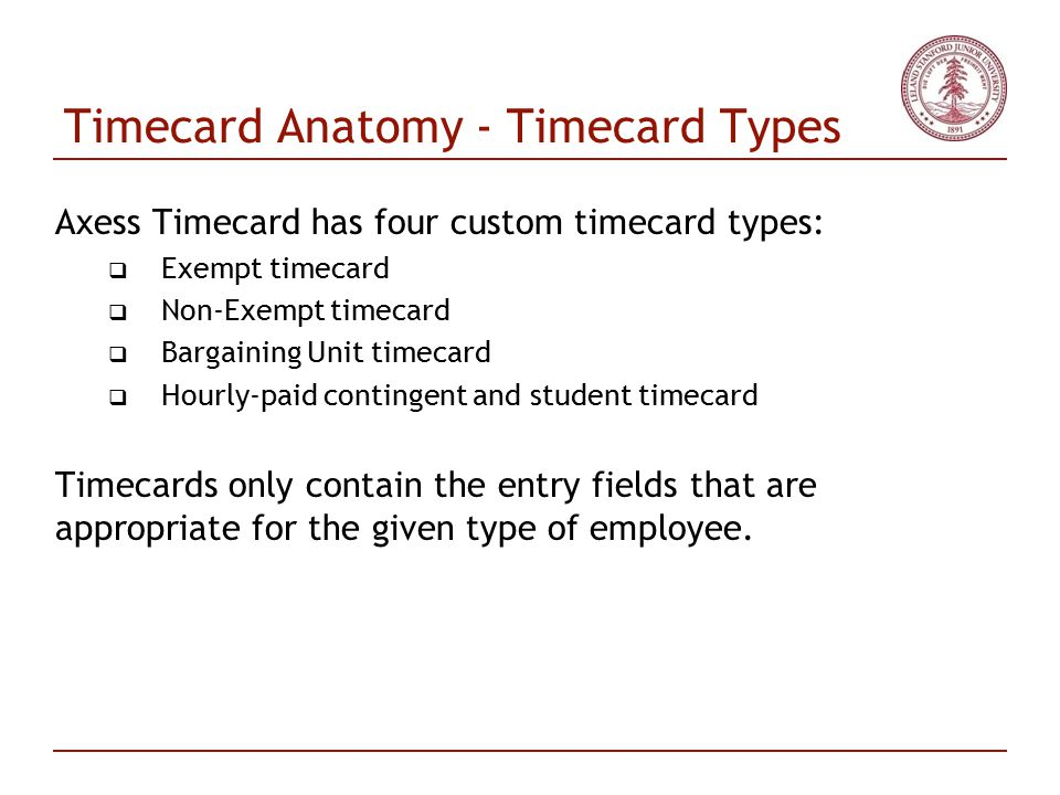 Axess Timecard Delta Demo - ppt download