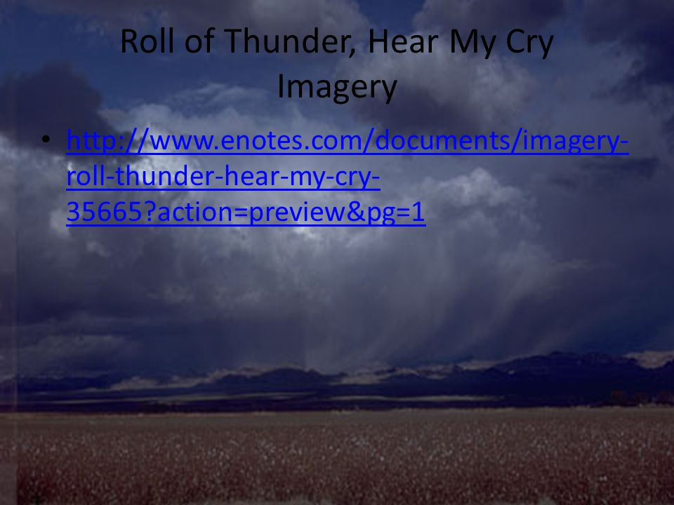 roll of thunder hear my cry ppt video online  11 roll of thunder hear my cry imagery