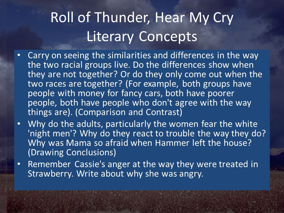 Roll of Thunder, Hear My Cry - ppt video online download